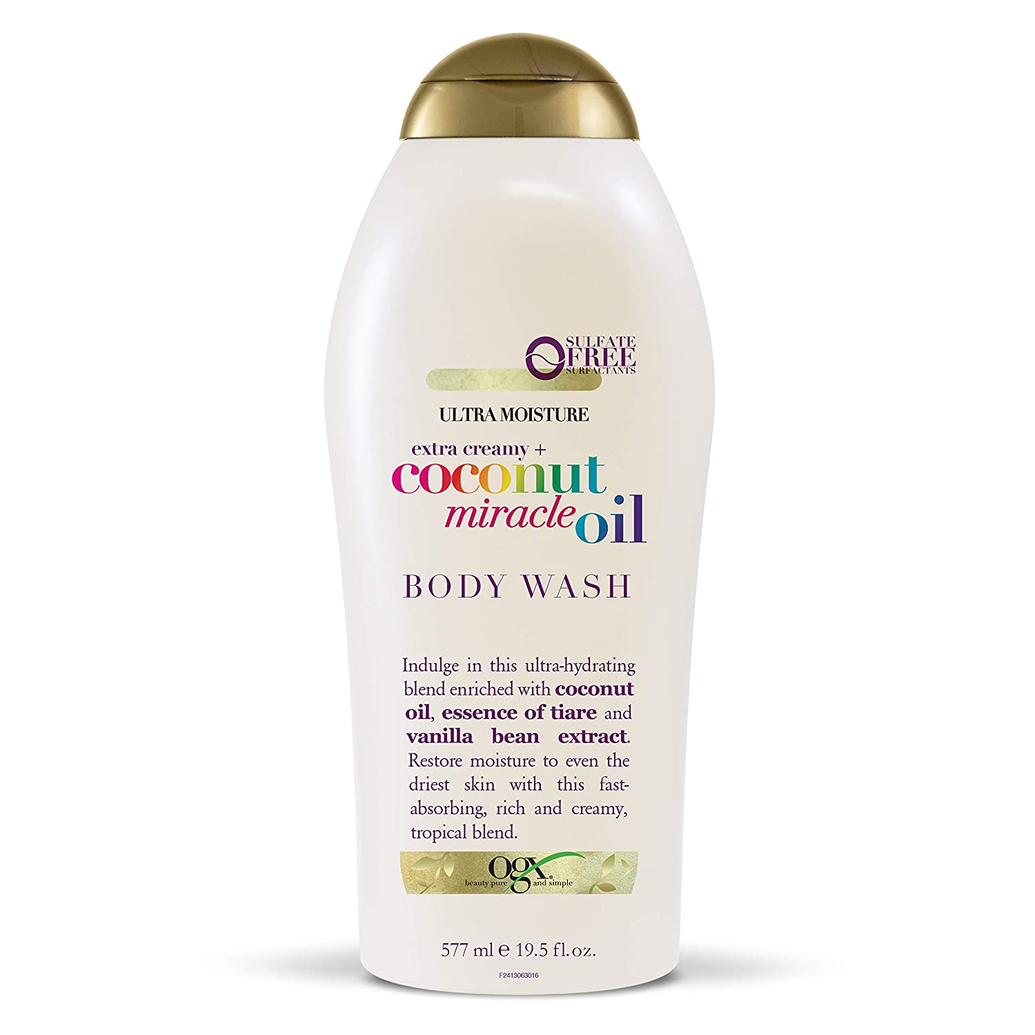 OGX Extra Creamy + Coconut Miracle Oil Ultra Moisture Body Wash, 19.5 Ounce : Beauty