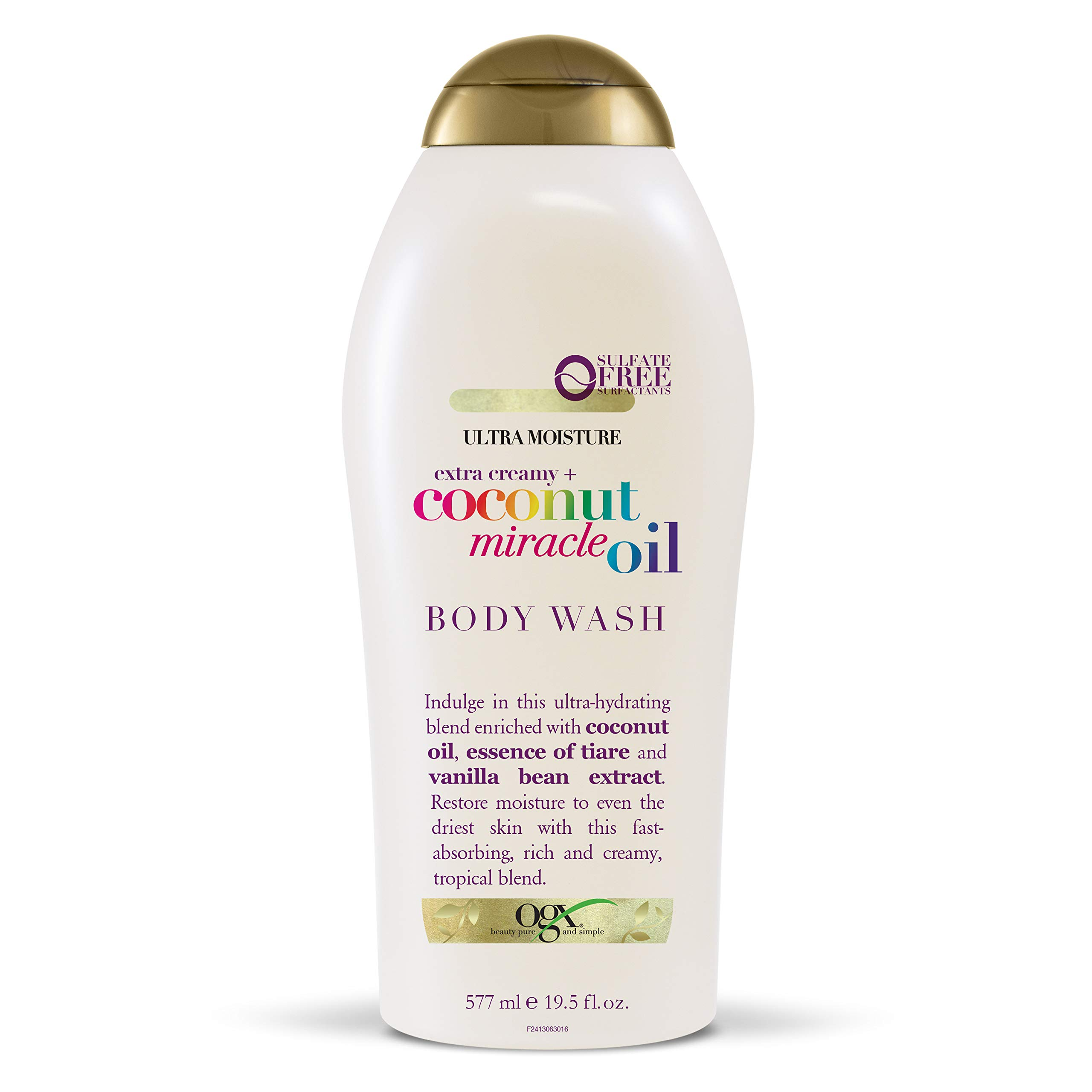 OGX Extra Creamy + Coconut Miracle Oil Ultra Moisture Body Wash, 19.5 Fl Oz