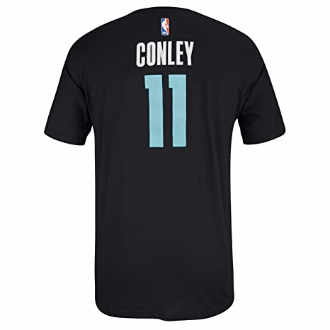 f8f717784b9 Mike Conley Memphis Grizzlies NBA Adidas Men Black Official Player Name    Number Jersey T-