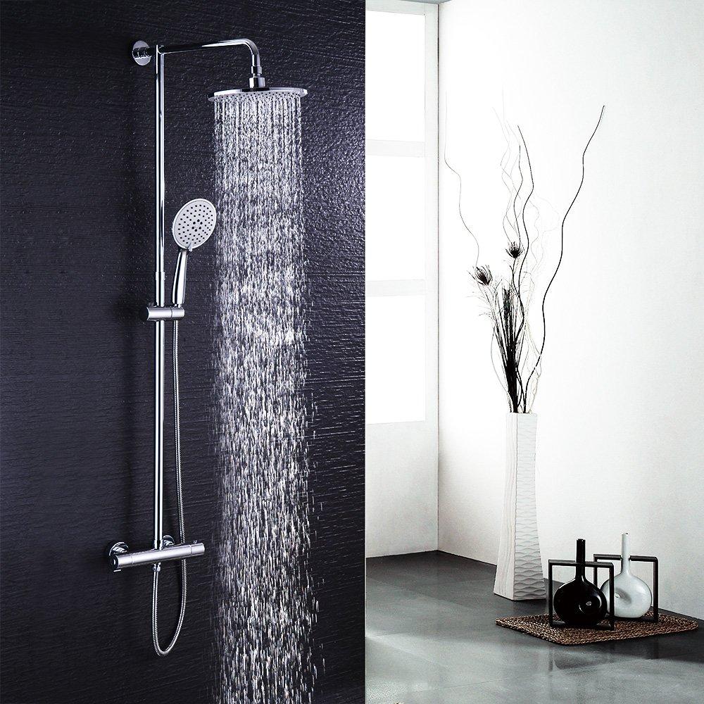 Hausbath Bt006/Temp/érature Mitigeur douche de douchette Ensemble de douche Chrom/é de bain douche thermostatique Combinaison