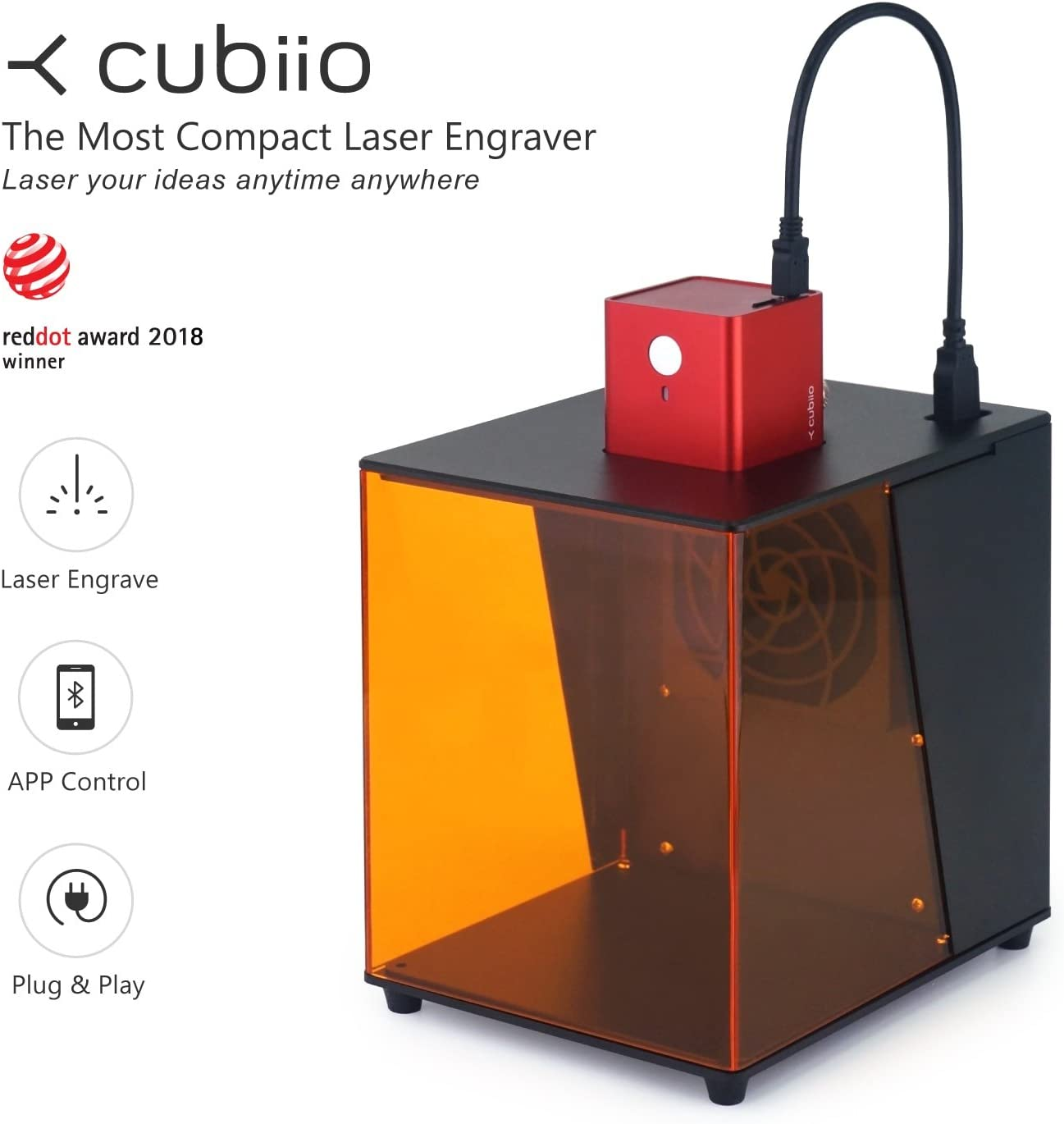 CUBIIO Compact Laser Engraver for Wood and Leather