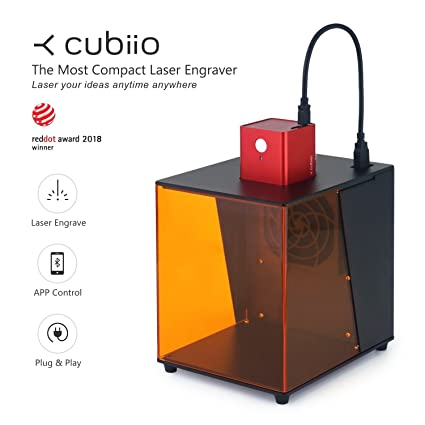 Portable Laser Engraver >> Amazon Com Cubiio The Most Compact Laser Engraver Red