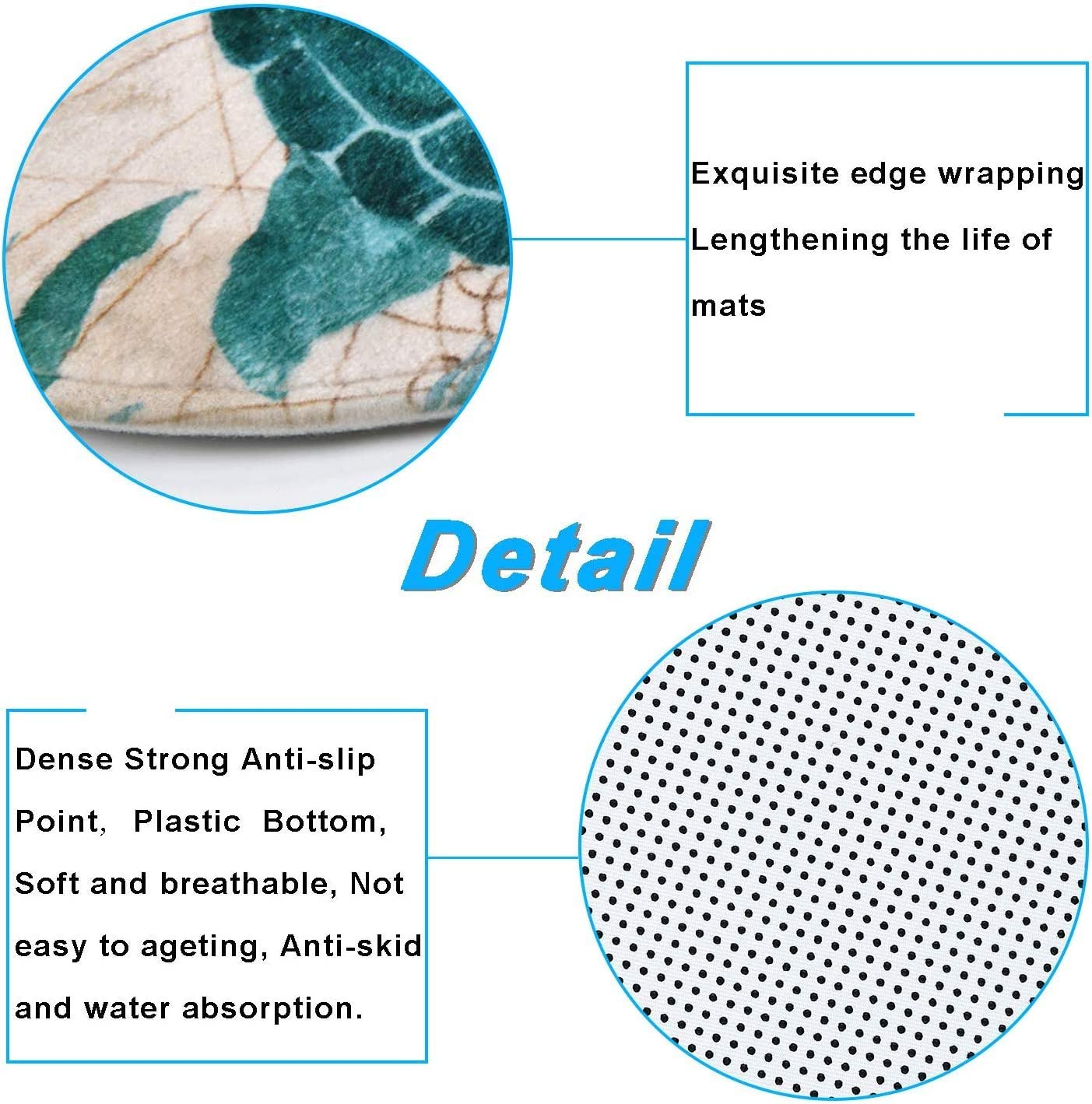 Toilet Lid Cover and Bath Mat YYW Nautical Sea Turtle Shower Curtain Sets for Bathroom Durable Waterproof Bath Shower Curtain with Non-Slip Rugs 72x78