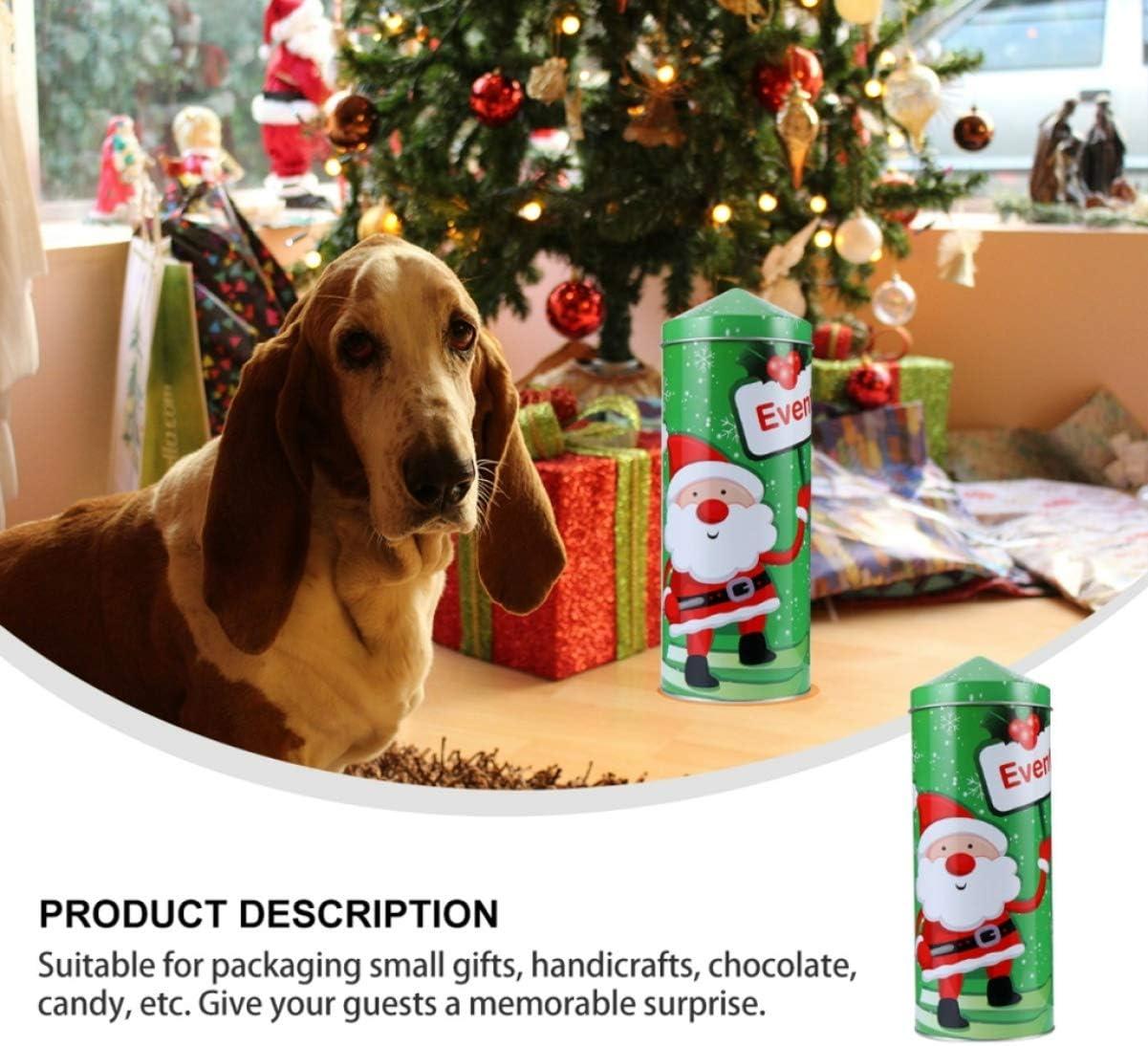 Cabilock Scatola di Caramelle di Natale Barattoli di Biscotti Vuoti di Natale Scatole Regalo di Metallo di Natale per I Biscotti delle Feste di Festa Piccole Torte Dolci Regali di Cibo
