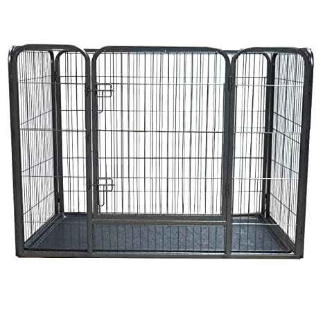Pisces Extra Large Heavy Duty Pet Playpen With Plastic Floor For Dogs Puppies