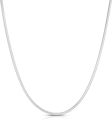 Beautiful Sterling silver 925 sterling Sterling Silver 1mm Round Snake Chain