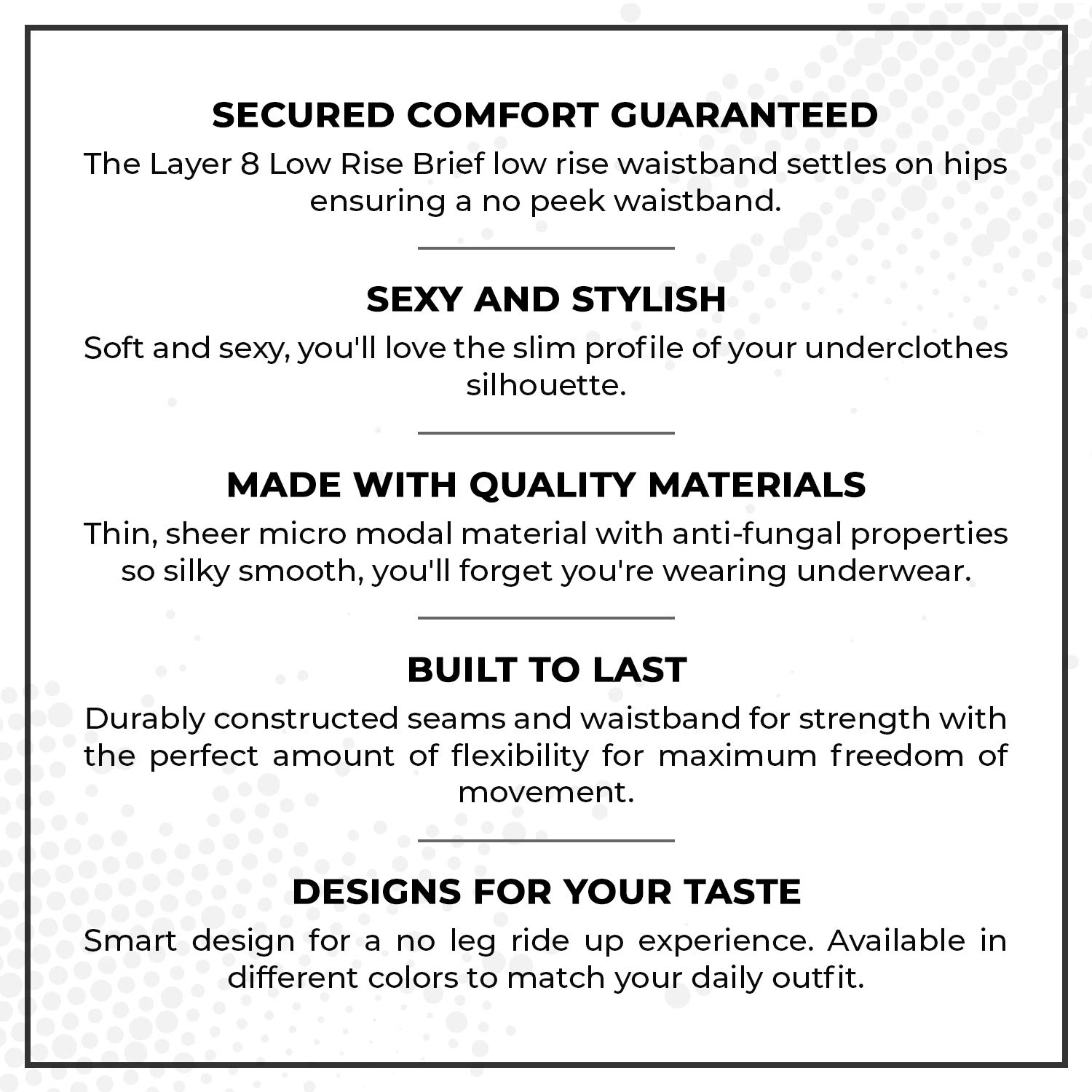 Layer 8 Mens 4-Pack Everyday Low Rise Briefs