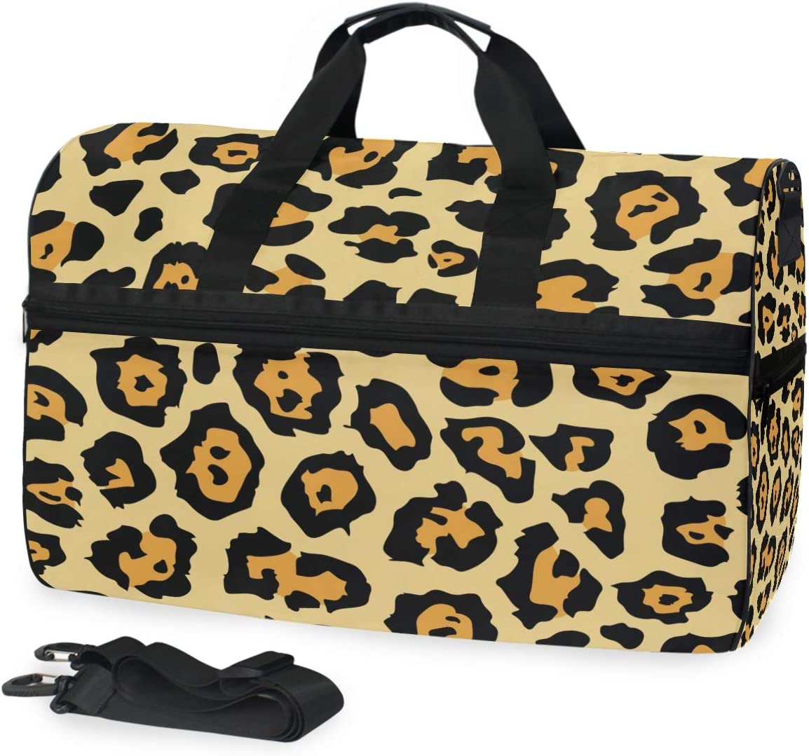 MALPLENA Animal Tiger Painting Packable Duffle Bag For Men Women Tear Resistant Sports Duffle
