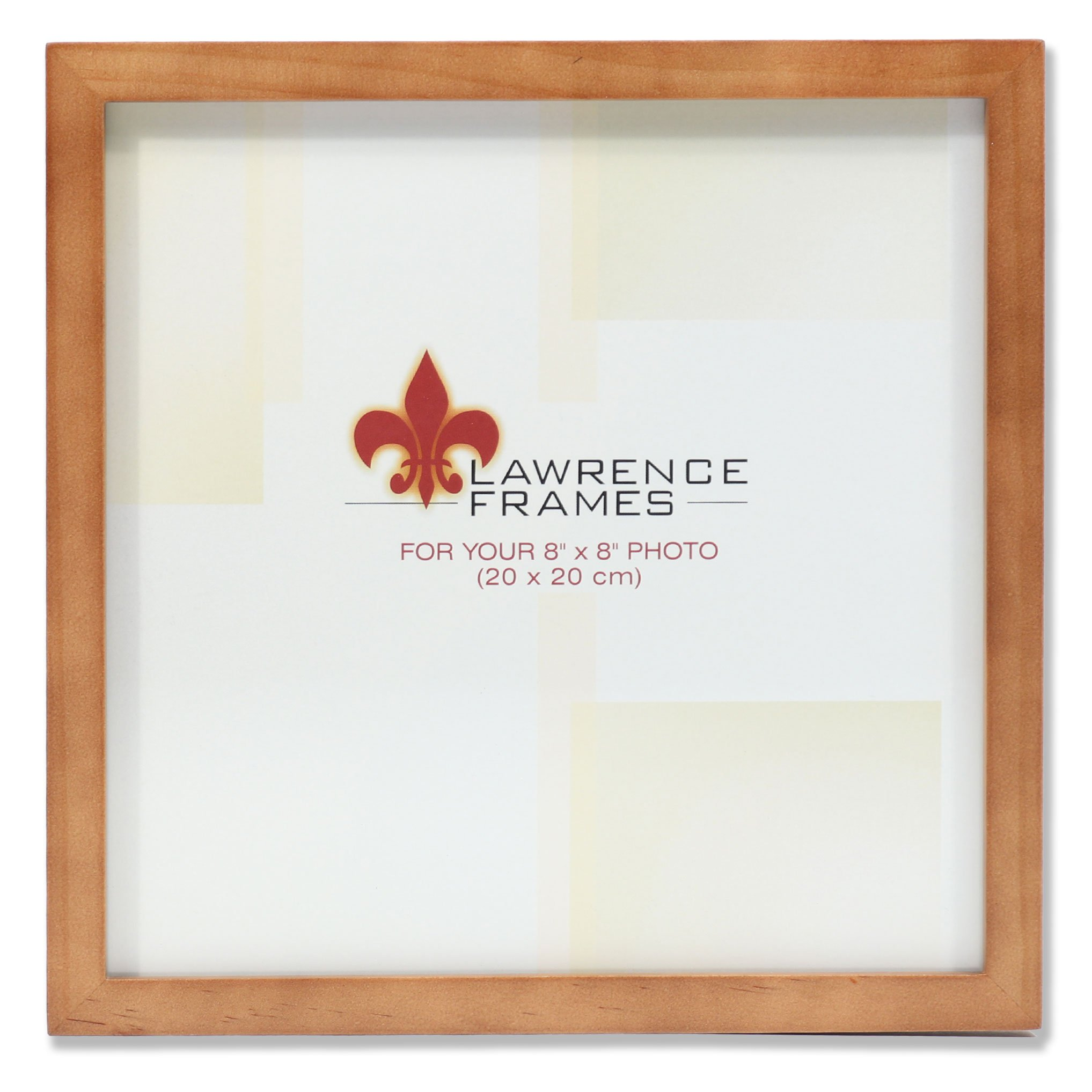 Lawrence Frames 766088 Nutmeg Wood Picture Frame, 8 by 8-Inch