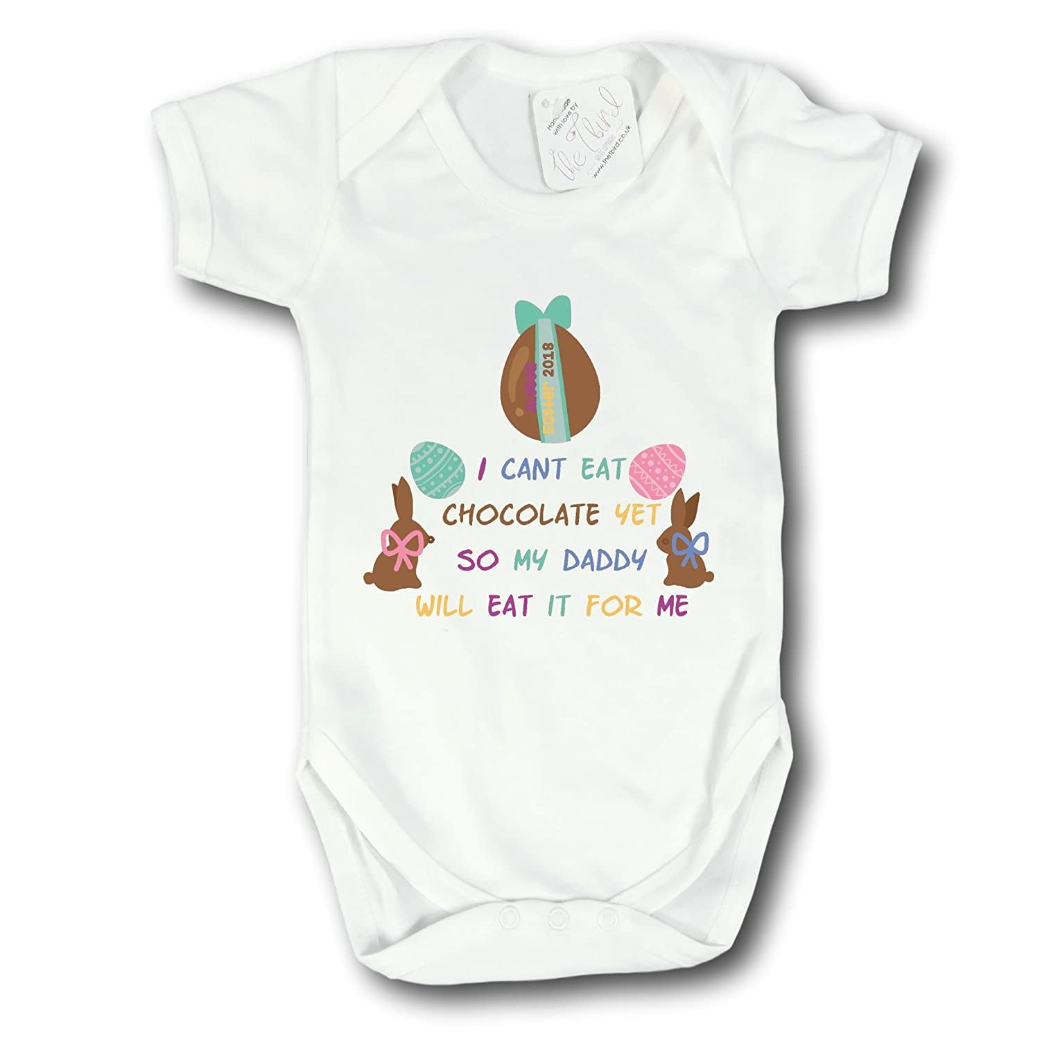 The T Bird My 1st Easter~Babies 1st Easter~Easter Baby Vest~Newborn Baby Gift~Newborn Baby Vest~Easter Vest White