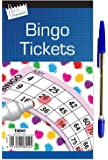 SST-UK Jumbo Bingo Book Pad of 600 Tickets 6 to view all colours Tallon Brand + 1 Free Pen