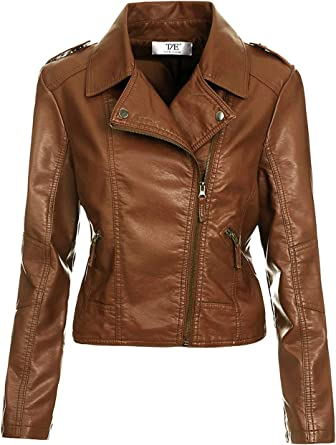 New Ladies Women's Vintage Crop Biker Style Zip PU Leather Jacket Top
