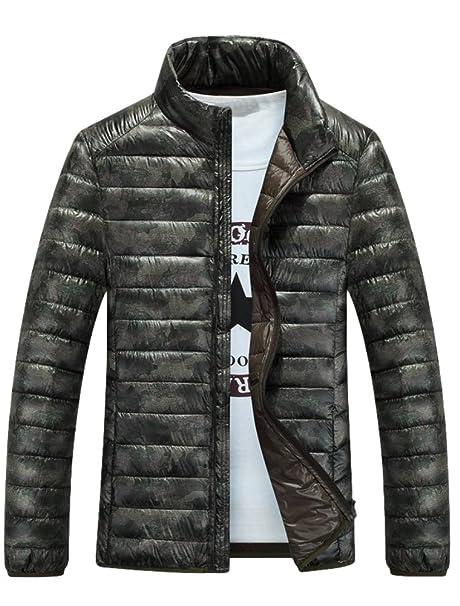 Vogstyle Uomo Ragazzi Invernale Giacche Di Piuma Sottile Zipper Cappotto  Stile 2-Verde XL IT 56-58  Amazon.it  Abbigliamento 1efce6da95a