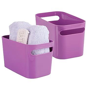 mDesign Badezimmer Aufbewahrungsbox – Bad Organizer für Shampoo ...