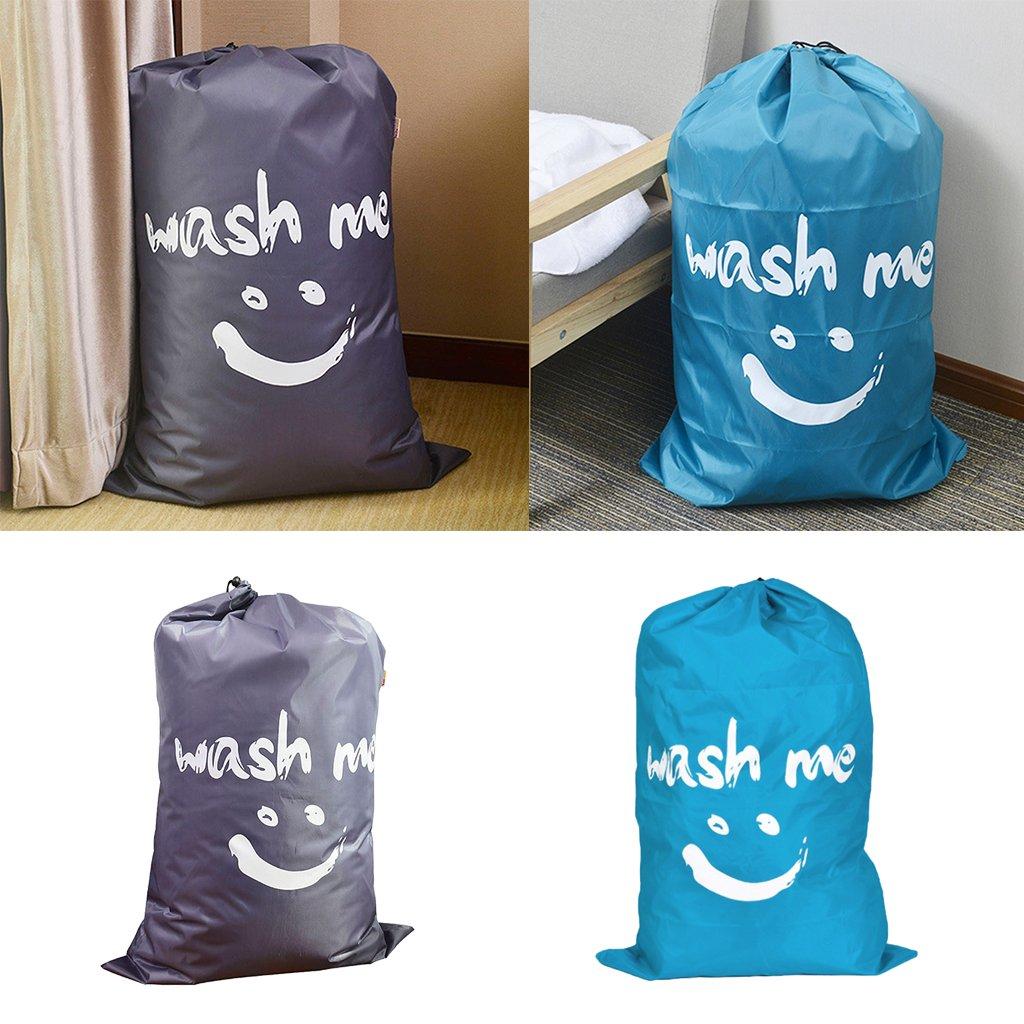 Baoblaze Aufbewahrungsbeutel für Kleidung-Wäschebeutel mit Kordelzug Blau