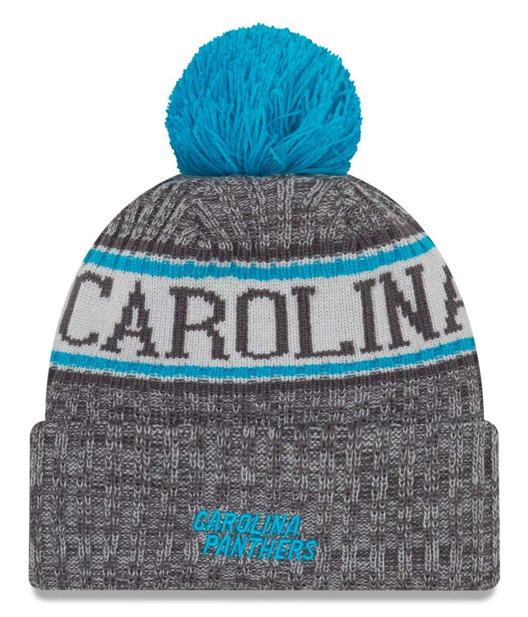 f033e883f7179 Amazon.com   New Era Carolina Panthers Gray Graphite Sport Knit NFL 2018  Beanie Unisex Hat Graphite