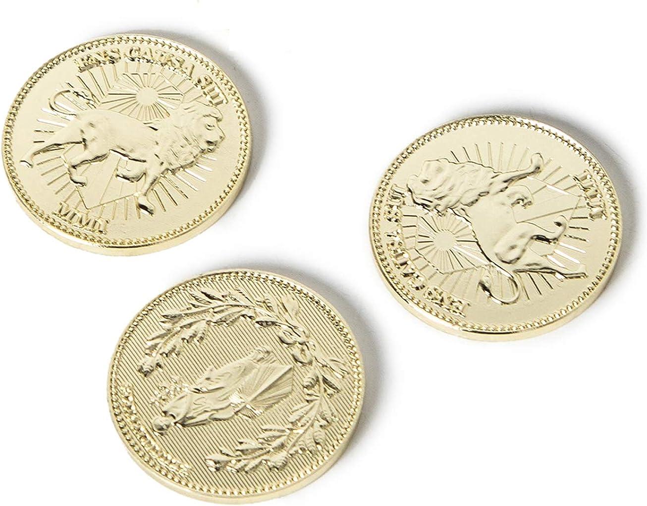 Gold Coins, Collecting Coins Golden Metal Coin 3 Pcs