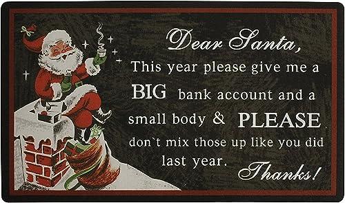 Merry Christmas Series Welcome Doormat Indoor Outdoor Decoration Kitchen Floor Garage Rug 29 x 17 Inches Letter to Santa