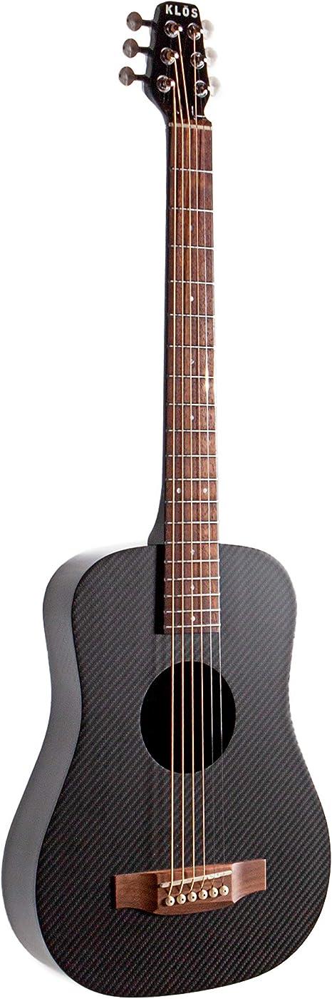 KLOS Kit de guitarra eléctrica acústica de viaje de fibra de ...