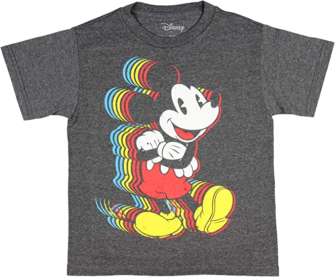 Disney Mickey Mouse Yellow Short Sleeve T-shirt New With Tags