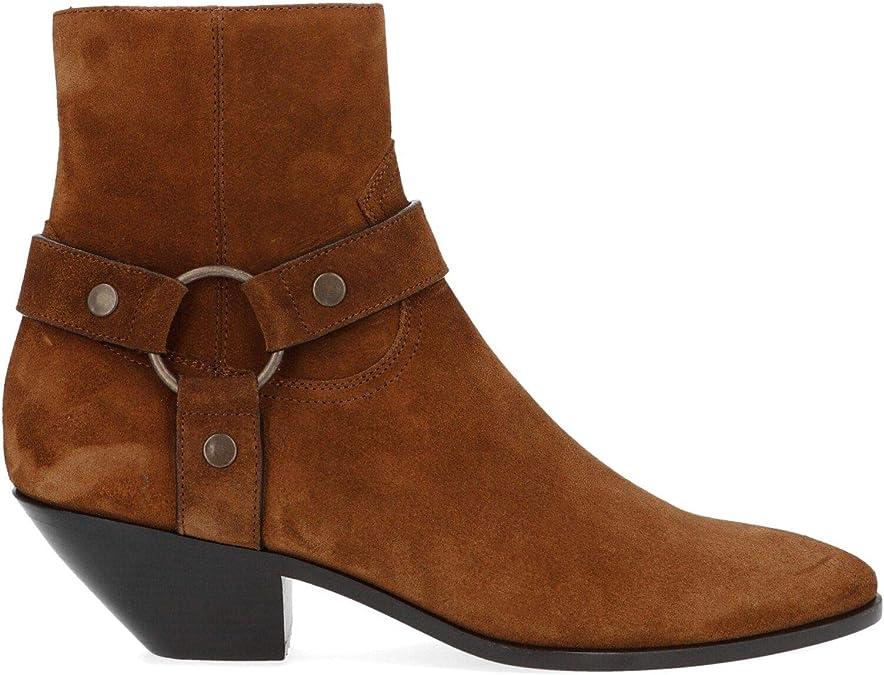 Saint Laurent Luxury Fashion Womens Ankle Boots Winter Brown