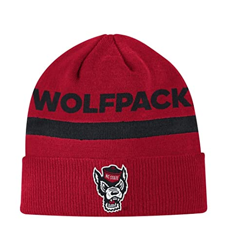 bee01cd4592 Image Unavailable. Image not available for. Color  adidas NCSU NC State  Wolfpack Cuffed Beanie Coach Sideline Knit