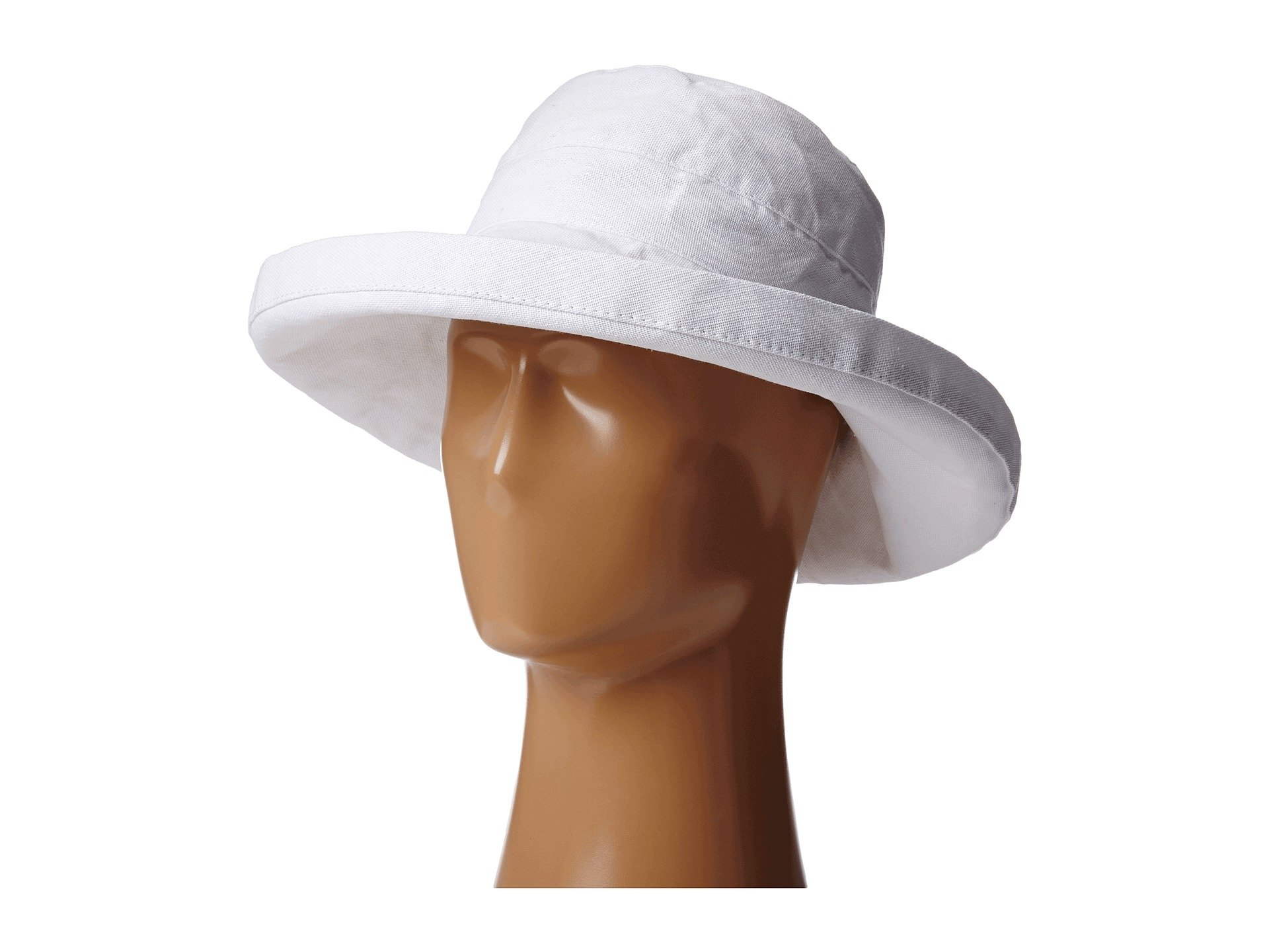 Scala Women's Cotton Hat with Inner Drawstring and Upf 50+ Rating,White,One Size by SCALA