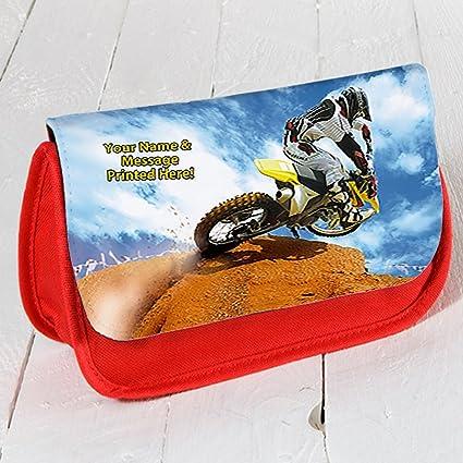 Personalizado Dirt Bike Motocross Rider st514 Rojo Estuche ...