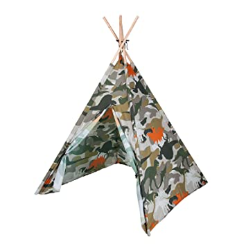 Kids Play Tent Dinosaur Camouflage Teepee u2013 Indian Wigwam Style u0026 Matching Bag  sc 1 st  Amazon UK & Kids Play Tent Dinosaur Camouflage Teepee - Indian Wigwam Style ...
