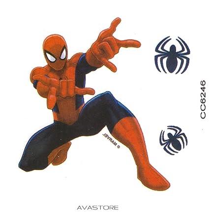 Tatuaje Temporal Spider-Man Super héroe – Tatuaje efímero Spider ...