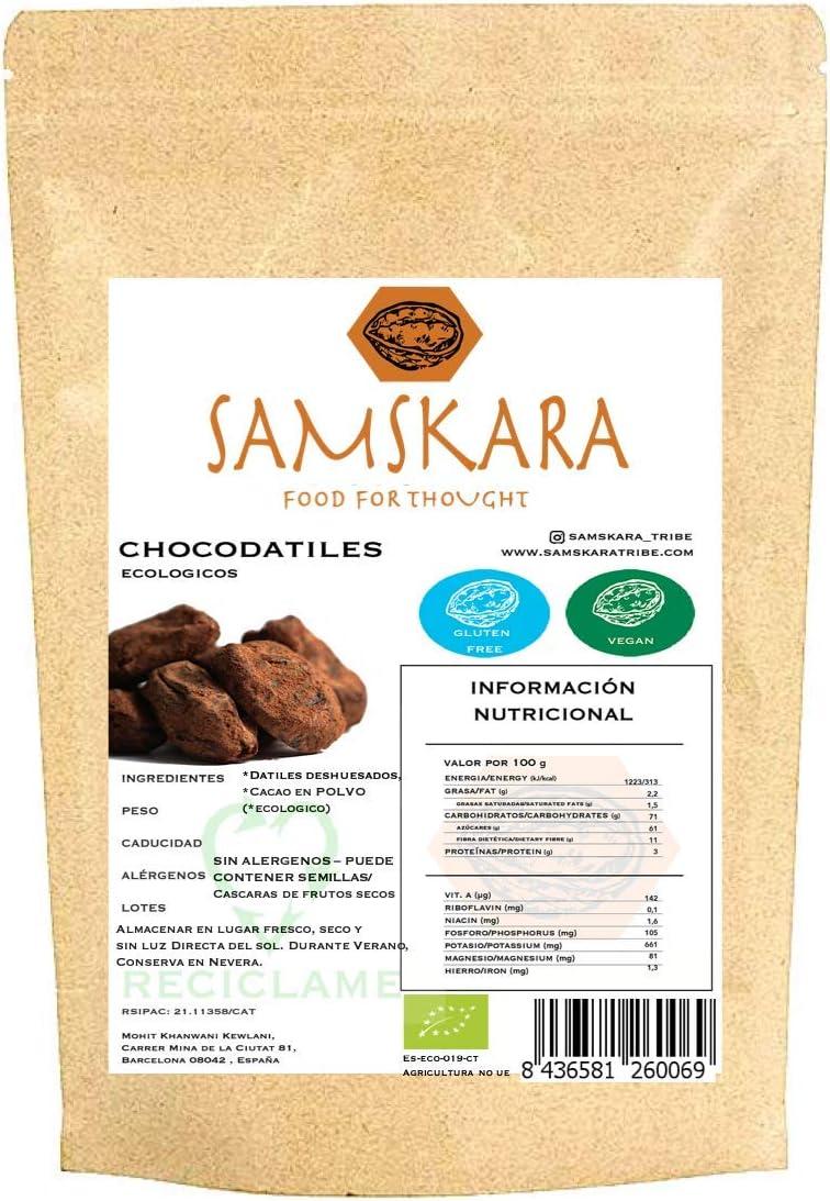 Choco Datiles BIO | Datiles Deshuesados | Dulce chuche saludable | Chocolate | como Trufas - Vegano Sin Gluten (Cacao, 150 gr x 24): Amazon.es: Alimentación y bebidas
