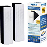 VEVA Premium 2 HEPA Filter with 8 Activated Carbon Pre Filters Compatible with Fellowes AeraMax Air Purifier 90, 100, 90/100, DX5 & DB5 9287001 9324001