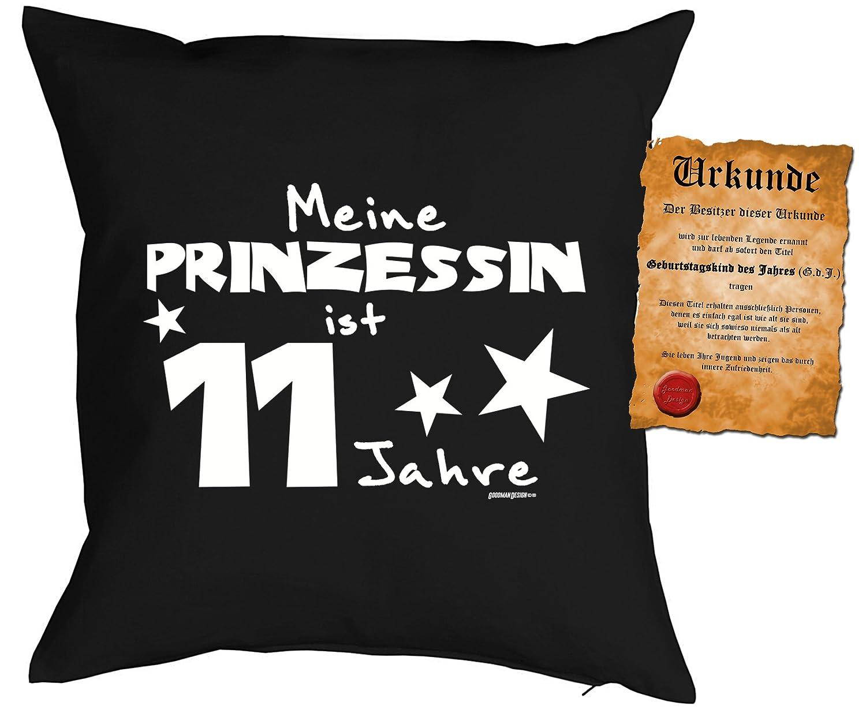 Schön Mädchen/Geburtstags/Deko Kissen Inkl. Spaß Urkunde: Meine Prinzessin Ist 11  Jahre Tolles Geschenk 11.Geburtstag: Amazon.de: Garten