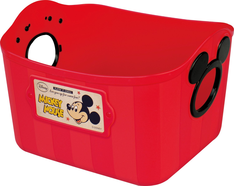 Nishiki Chemical Disney color box Mickey Mouse mini soft bucket SQ5 Red