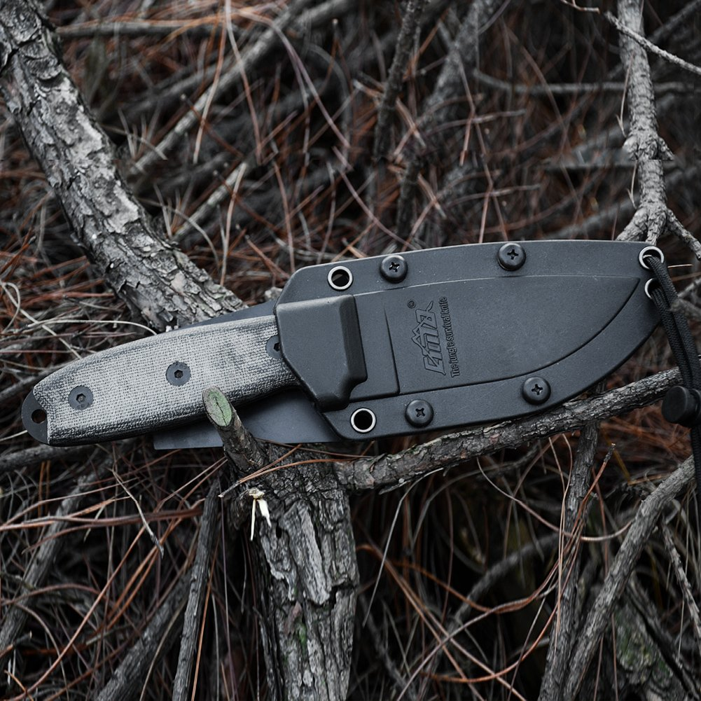 CIMA High hardness Full-Tang outdoor survival fixed blade hunting knife by CIMA (Image #6)