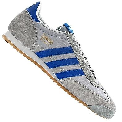 487689ced3c968 adidas Originals Dragon Herren Freizeit Schuhe Sneaker TURNSCHUH GRAU BLAU