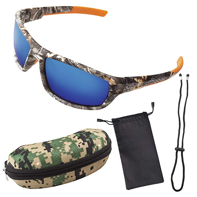 9e59a52cda09 Polarized Camouflage Sport Fishing Sunglasses for Men and Women - Ideal for  Driving - Fishing -