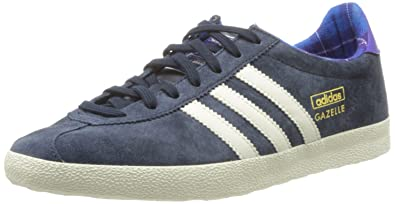 huge selection of 12066 102bf adidas Originals Womens NavyWhite Gazelle Trainers 3.5 UK