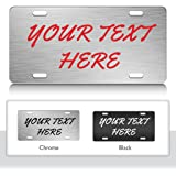 personalized custom license plate auto tag design brush script font ch