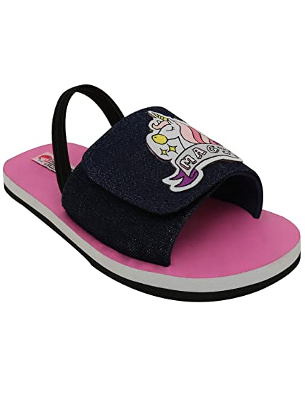 59d993191a02d Dchica Girl s Unicorn Magic Slider Sandals House Slippers  Buy Online at  Low Prices in India - Amazon.in