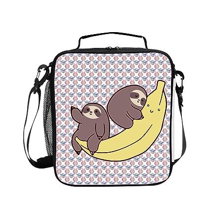 c123b3b421f9 Amazon.com - Levendem Sloth Ride Banana Lunch Bag/Lunch Box/Lunch ...