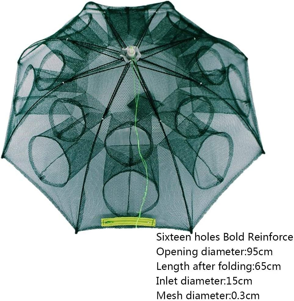 Kalaokei Foldable Automatic Minnow Shrimp Eel Fish Crab Mesh Cage Fishing Bait Net Trap