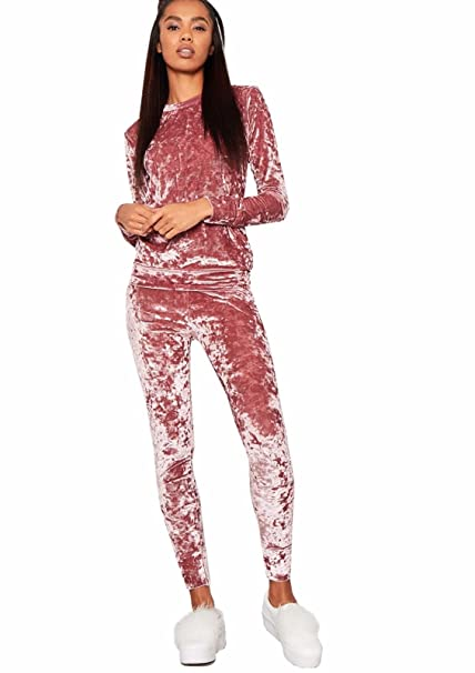 Girl Talk Clothing Womens Velour Velvet Full Length Coord Casual Kylie  Tracksuit  Amazon.ca  Clothing   Accessories 8175a806aa