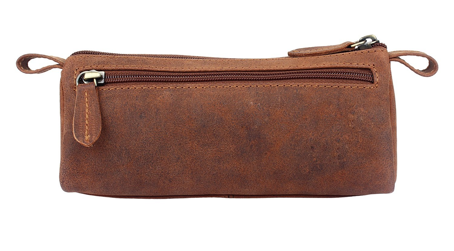 Leather Pencil Case - Zippered Pen Pouch for School, Work & Office by Rustic Town by RusticTown (Image #6)
