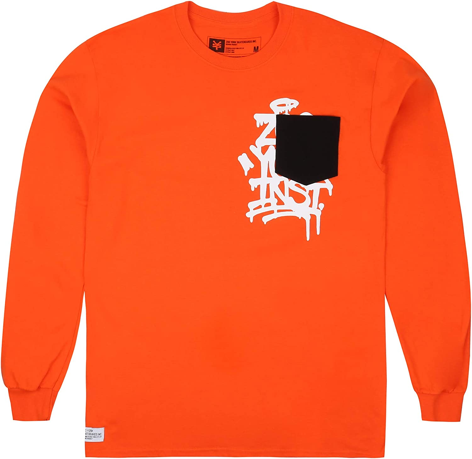 Zoo York Mens Drip Tag Long Sleeve Top