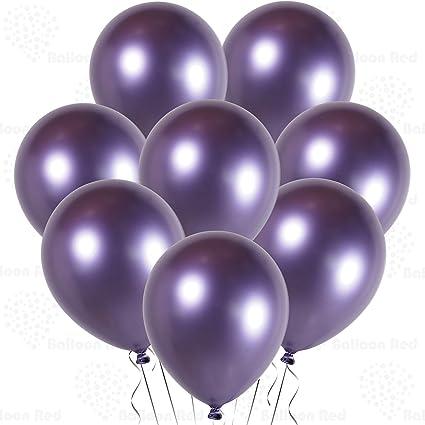 "100 Metallic Purple Helium Quality Latex balloons birthday party Decorations 12/"""