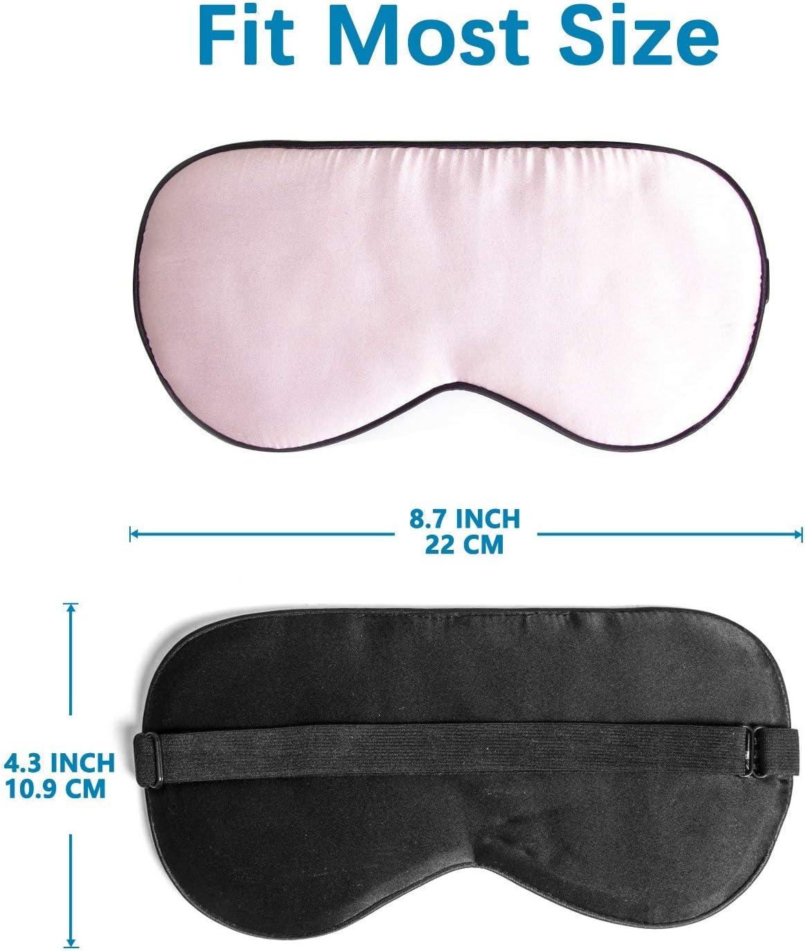 ZIMASILK R/églable M/ûrier Soie Masque Pour Les Yeux Bandeau 100/% Pur M/ûrier Masque Pour Les Yeux Pour Sommeil Avec Sac (pattern5