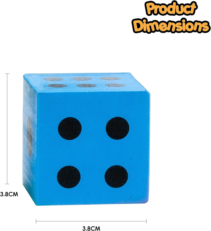 Leichtgewichtig /& leicht zu werfen ein Sortiment an Spielen ideales Innenspielzeug f/ür Kinder 48 Gro/ße Schaumstoffw/ürfel Standardw/ürfel W/ürfel und Zubeh/ör in verschiedenen leuchtenden Farben
