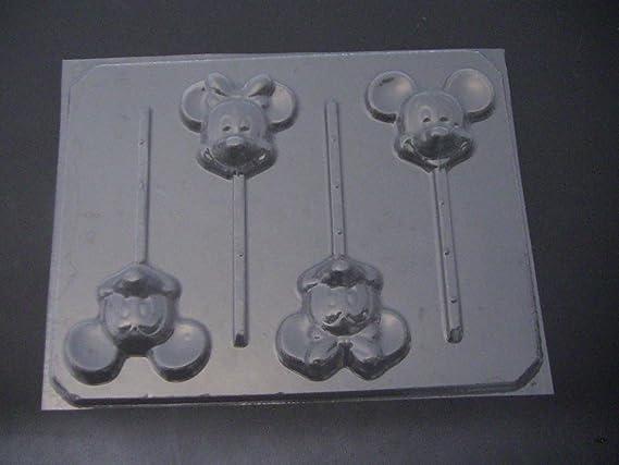 Minnie Bow Setting Flexible Plastic Resin Chocolate Mold~ 2 pc