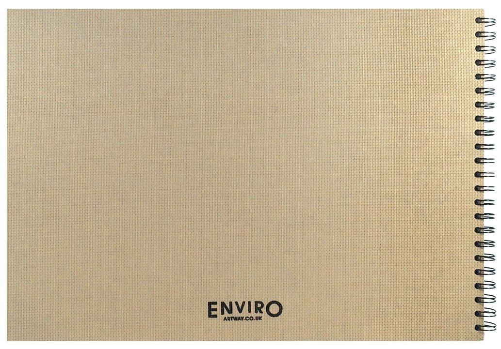 Artway Enviro Copertina rigida Cartoncino riciclato 100/% 170g//m/² 35 pagine Ritratto Quaderno da disegno spiralati